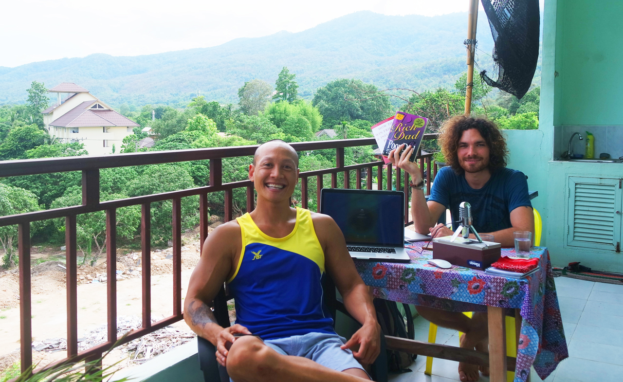 New Podcast Interview – Sharing My Personal Story Of Wall St. Burnout, Ayahuasca, Digital Nomad & Life Coach in Thailand